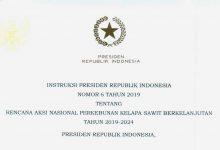 Photo of Presiden Jokowi Teken Inpres Rencana Aksi Nasional Perkebunan Kelapa Sawit Berkelanjutan 2019-2024