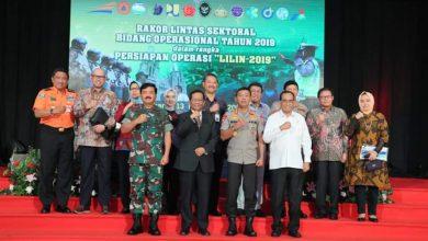 """Photo of KAPOLRI BERSAMA MENKOPOLHUKAM, MENHUB, PANGLIMA TNI PIMPIN RAKOR LINTAS SEKTORAL DALAM RANGKA PERSIAPAN OPERASI """"LILIN-2019"""""""